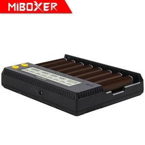 Image 4 - MiBOXER C8 pil şarj cihazı 8 yuvaları lcd ekran Li ion LiFePO4 Ni MH ni cd AA 21700 20700 26650 18650 17670 RCR123 18700