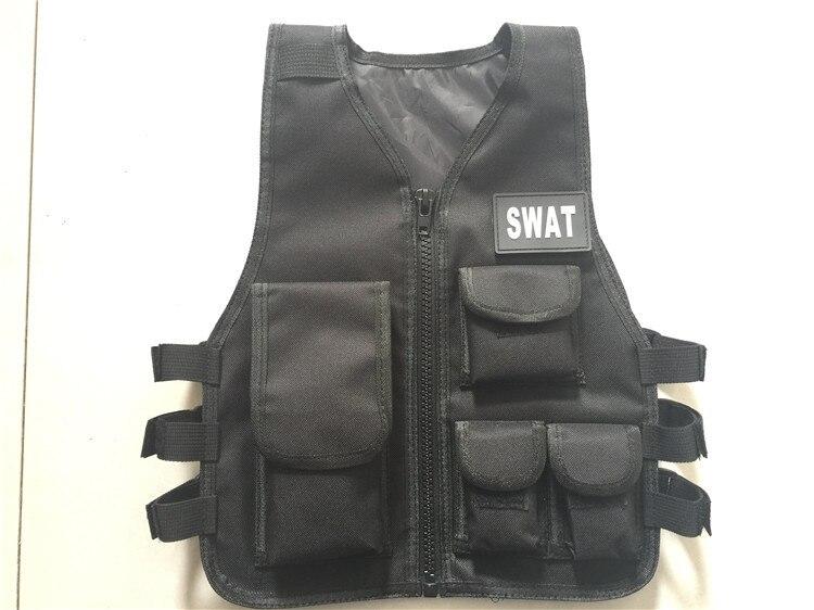 Черный ripstop Косплэй детский жилет детский тактический жилет для игр и школа Скаутинг жилет