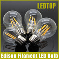 Dimmable E27 Led Bulb 2w 4w 8w 12w 16W Edison Filament COB Lamp 360 Degree 220V 230V Retro Globe Lighting Indoor Living Room