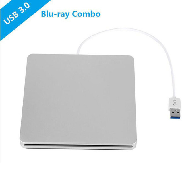 USB 3.0 Slot de Carga Unidade Bluray Externo DVD RW Burner Escritor 3d blue-ray bd combo-rom player para apple macbook pro imac laptop