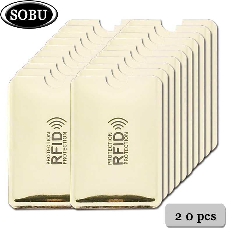 20pcs Anti Rfid Blocking Anti Rfid Card Holder NFC Blocking Reader Lock Id Bank Card Holder Business Bancaire Protection ID Case