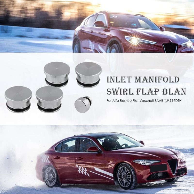 Автомобильный впускной коллектор вихревой клапан заготовки для Alfa Romeo Fiat Vauxhall 1,9 Z19DTJ Z19DTH алюминиевый серебристый внешний вид 125x82 мм