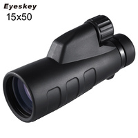15x50 High Magnification Monocular Waterproof BaK4 Prism Optics Telescope for Caming Hunting Outdoor with Tripod
