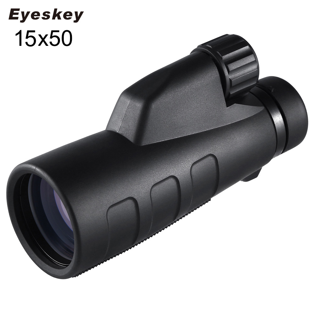 Eyeskey 15x50 High Magnification Monocular Waterproof BaK4 Prism Optics Telescope for Caming Hunting Outdoor with Tripod 10 30x50 outdoor hunting optics telescope pocket mini zoom monocular high quality pocket telescope with tripod