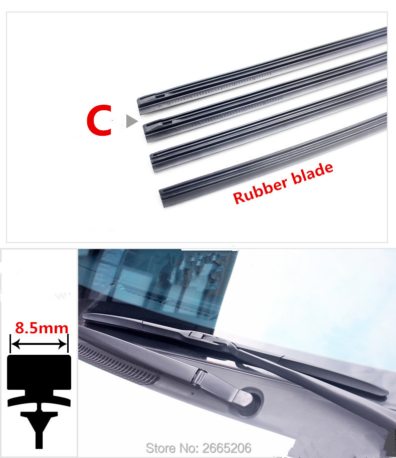 Free shipping car Windscreen Wipers Rubber strip Wiper Blade for Lexus rx350 rx gs is250 gs300 rx300 nx rx330 gx470 accessories Lexus RX