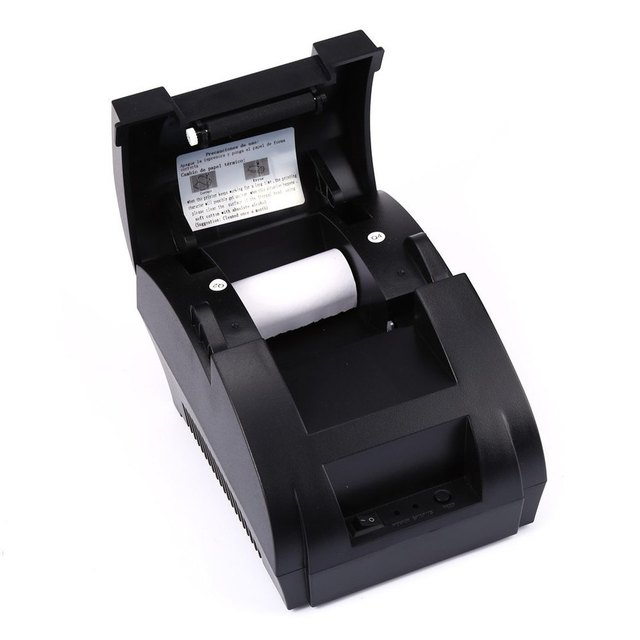 5890K Thermal Receipt Printer Portable POS Printer USB Paper Roll Port 58mm Thermal Low Noise For Restaurant and Supermarket