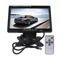 HD 800 X 480 Car Monitor 7 Inch Color TFT LCD Car Rearview Monitor Rear View