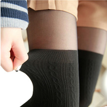 2017 tights women Spring Autumn style Women Girls Cute Black Twisted Knee Stockings Twisted Pantyhose Tights Female Pantys