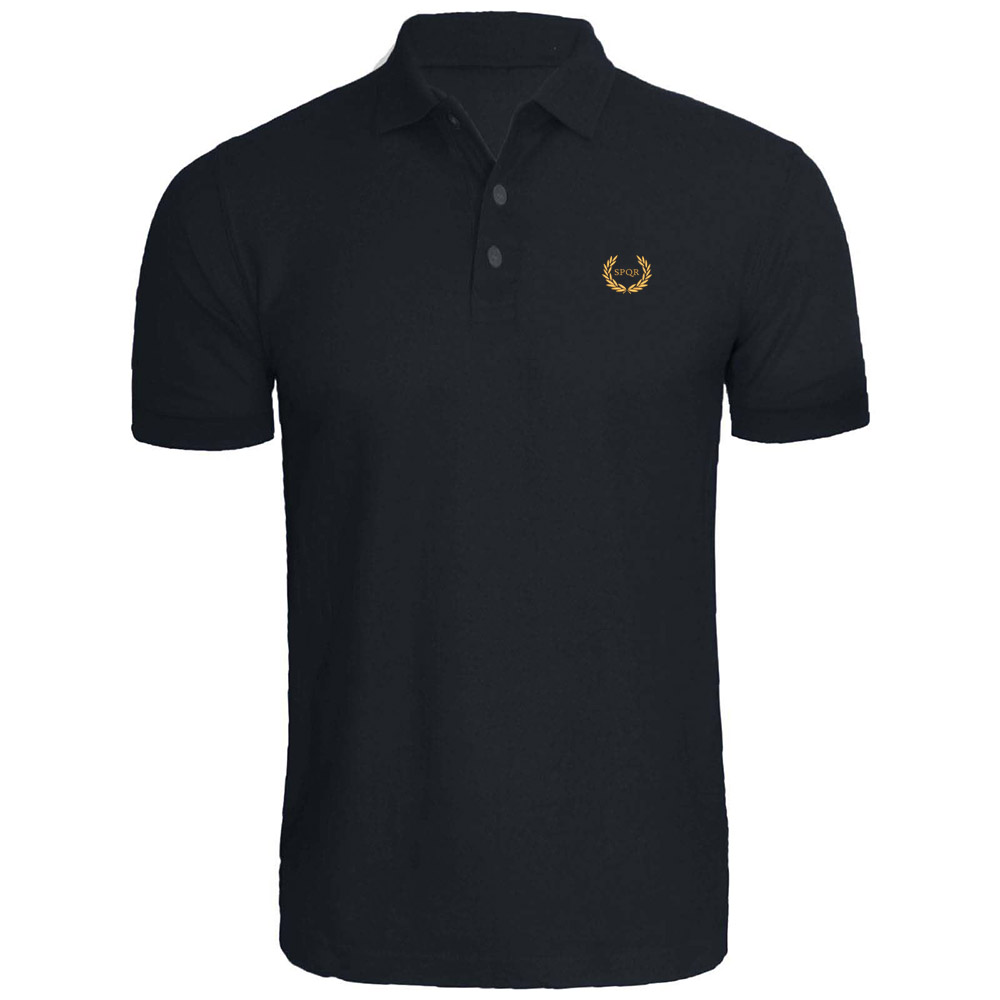 SPQR Roman Eagle Empire Caesar Wreath Oak Embroidery Embroidered   Polo   Shirts