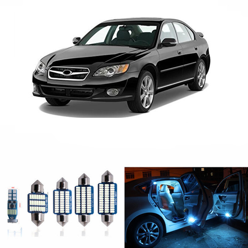 12pcs Car LED Interior Light Bulbs kits For 2000-2009 Subaru Legacy Map Dome Trunk License Plate Lamp 12V OEM Replacement white car 5630 smd interior map dome trunk light led bulb white led kit package for volvo 850 1991 1995 with install tools