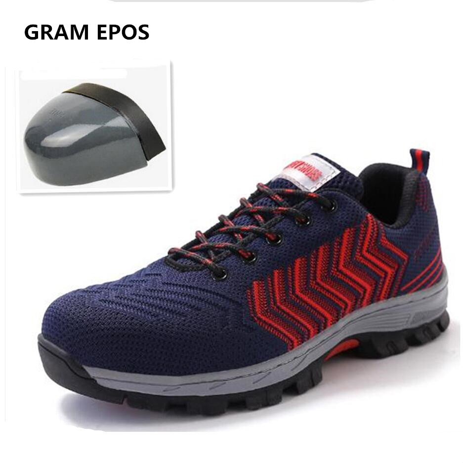 GRAM EPOS Unisex Industrail Men Boots Work Safety Shoes Steel Toe Cap Male Anti-Smash Puncture Proof Breathable Protect Footwear fashion men safety work shoes mesh breathable anti puncture tooling low boots steel toe cap protect footwear boots safety shoes