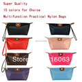Hot sale High Quality Waterproof  Women Clutch Cosmetic bags Folding Bag Nylon Portable Small Storage Makeup Bag Free Shipping
