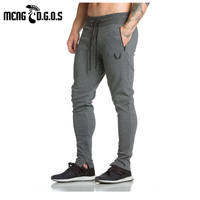 Spring Mens Fitness Sweatpants Pant Male Bodybuilding Drawers Cotton Elastic Band Solid Color Trousers Pencil Pants