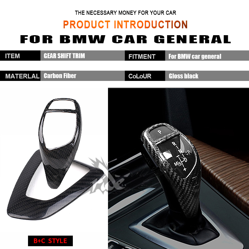 For BMW E81 E87 E82 E88 F20 118i 120i 135i 128i 125i Universa Right hand drive Carbon car Gear Shift Knob Cover trim B C Style in Gear Shift Knob from Automobiles Motorcycles