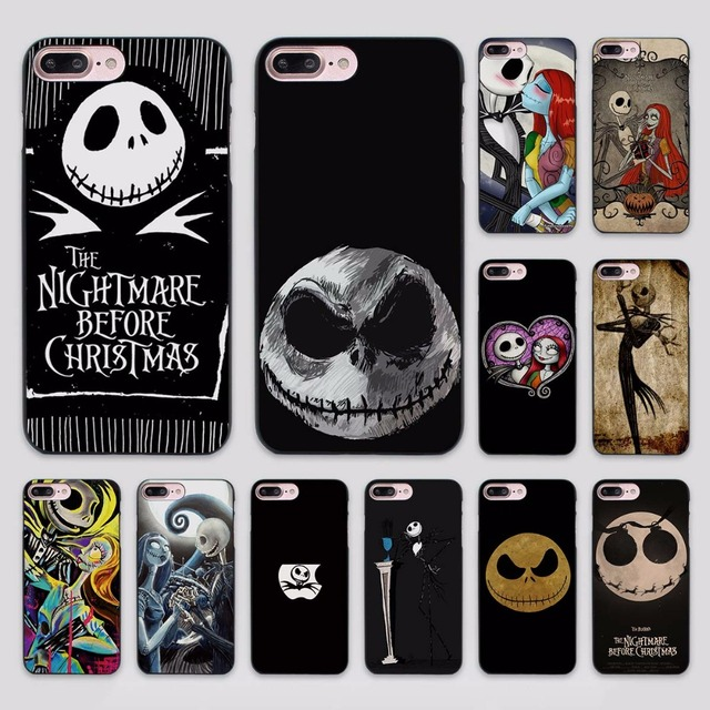 best loved eddc8 3e6f3 US $2.99 |Hot Sale Jack Skellington The Nightmare Before Christmas design  hard black Case Cover for Apple iPhone 7 6 6s Plus SE 5 5s 5c 4 -in ...