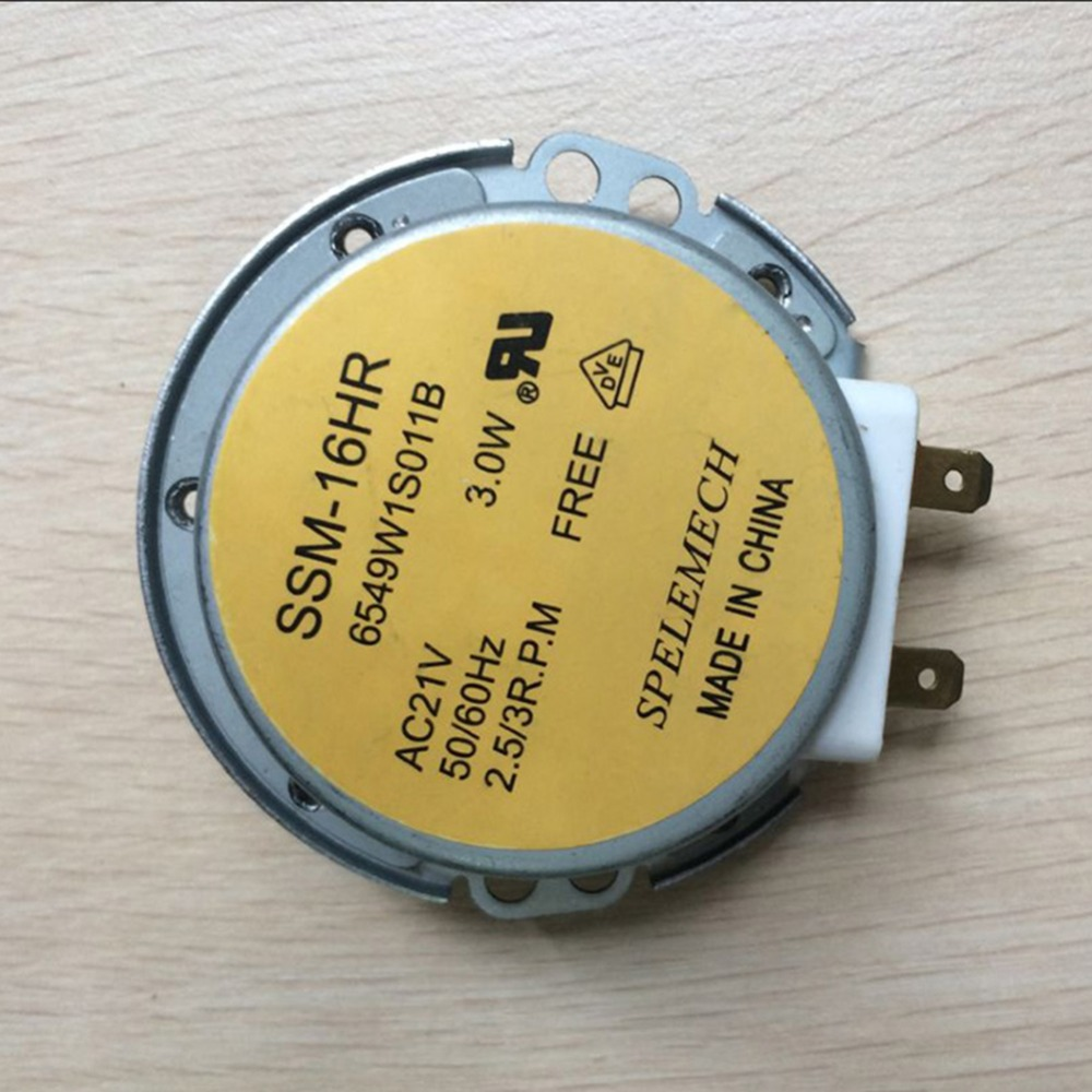 NEWEST Microwave Oven Synchronous Motor Tray Motors SSM-16HR AC 21V 3W 50/60Hz For Lg Microwave Oven Parts