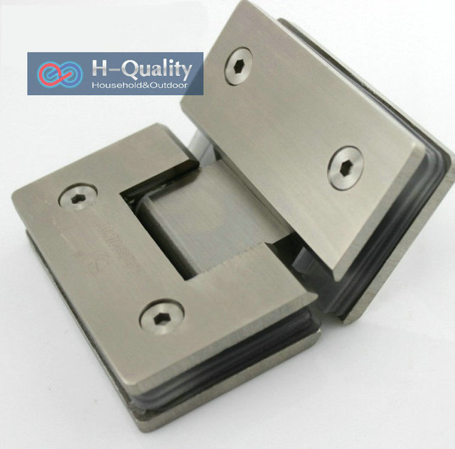 Thicken Material 135 Degrees Precision Casting and Surface Wire Drawing Stainless Steel Glass Clamp, Shower Door Glass Clip