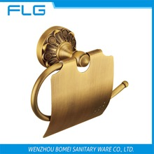 Free Shipping FLG100207 Paper Holder Wall Mounted Antique Brass Lavatory Tissue Holder,Art Curving Retro Style Accessories