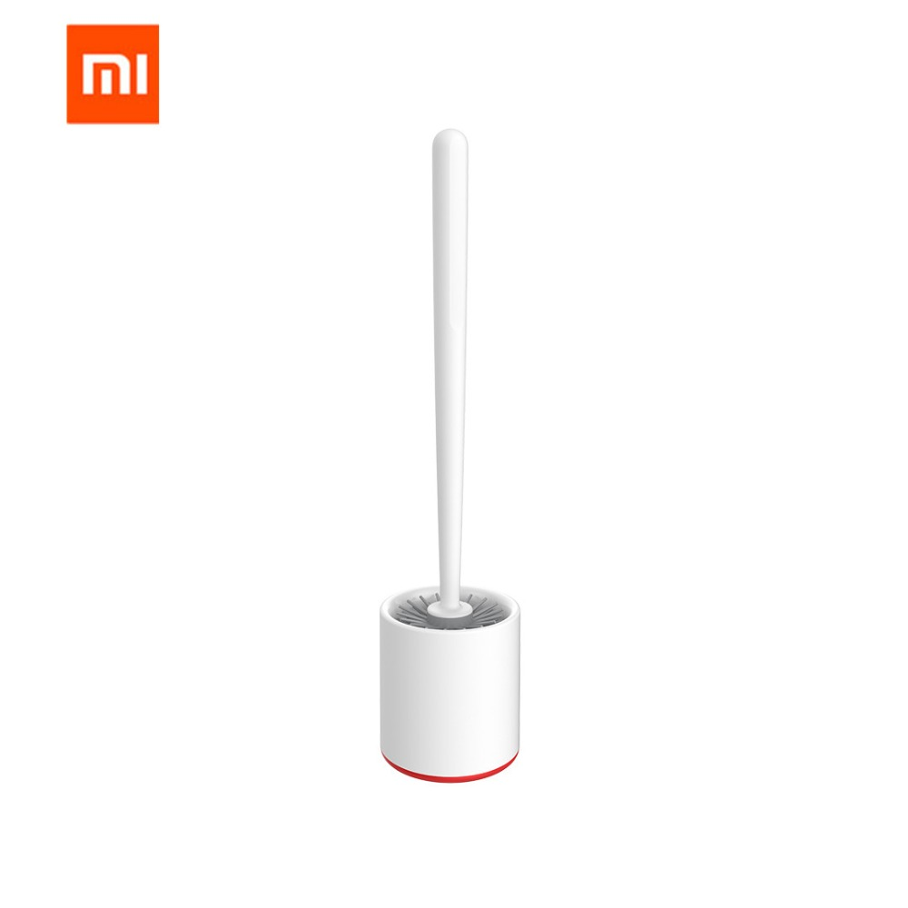 Original Xiaomi MIjia Yijie TPR Toilet Brushes And Holder Cleaner Set Silica Gel Floor-standing Bathroom Cleaning Tool