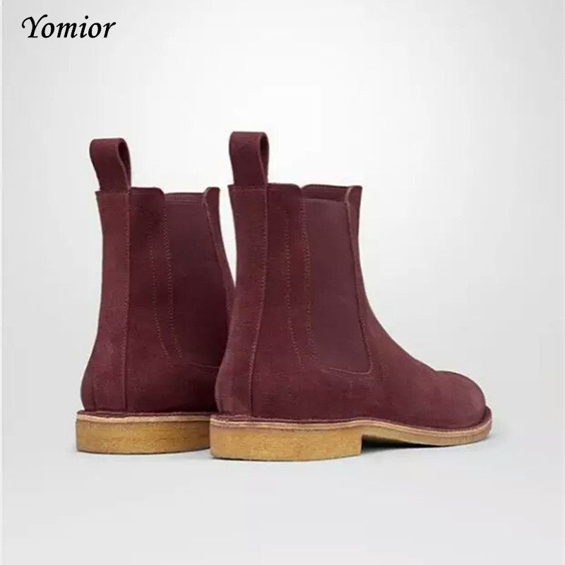 Handmade Men Chelsea Boots Vintage Casual Boots All-matching Kanye - Men's Shoes - Photo 6