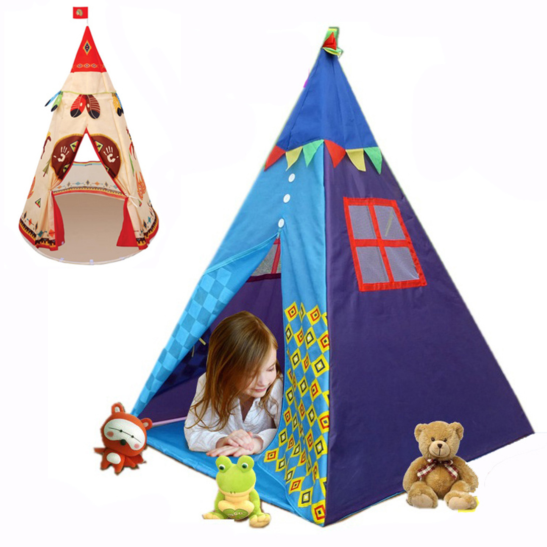 Nouvelle tente de tipi princesse indien maison de jeu intérieur extérieur tente de jeu pour les filles et les garçons jouent jeu de rôle