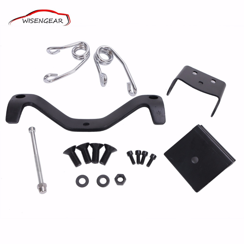 Motorcycle Chrome Seat Brackets Spring Mount Kit For Harley Sportster XL1200 XL883C/R/L  2004 - 2014 C/5 universal black synthetic leather rear rivet passenger seat for harley sportster xl883 48 1200 2004 2015 c 5