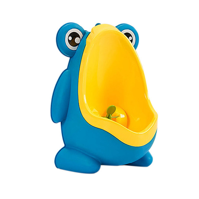 Multifunction Baby Boy Standing Urinal Sucker Wall-Mounted Urinal Children Child Toilet PP Plastic Frog Pattern Baby Potty Boys