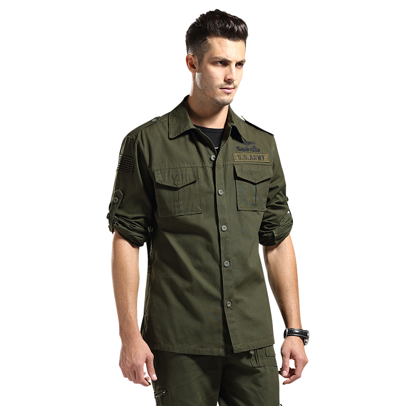 101 Airborne Tactical Cargo Shirts Navy Seals Military Division Spetsnaz Clothes Mens Army Bomber Flight Camouflage Tops Shirts