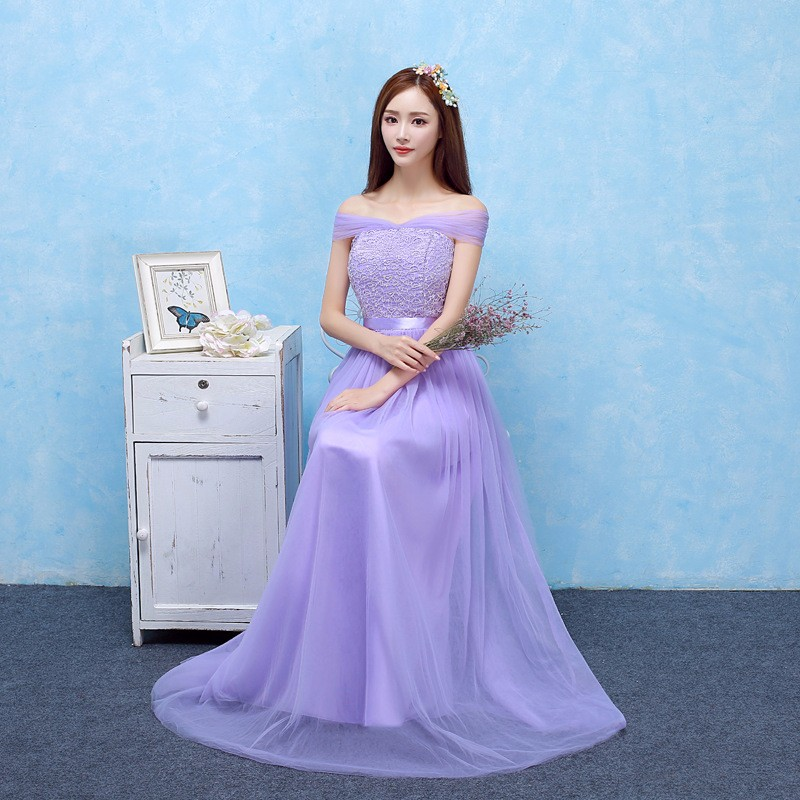 Stunning Wedding Guest Dresses: Sweet Memory 4 Colors Beautiful Violet Bridesmaid Dresses