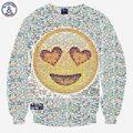 Mr.1991INC Harajuku мужчины/женщины 3D футболка печать улыбка лица emoji кофты с длинным рукавом мультфильм толстовки осень топы