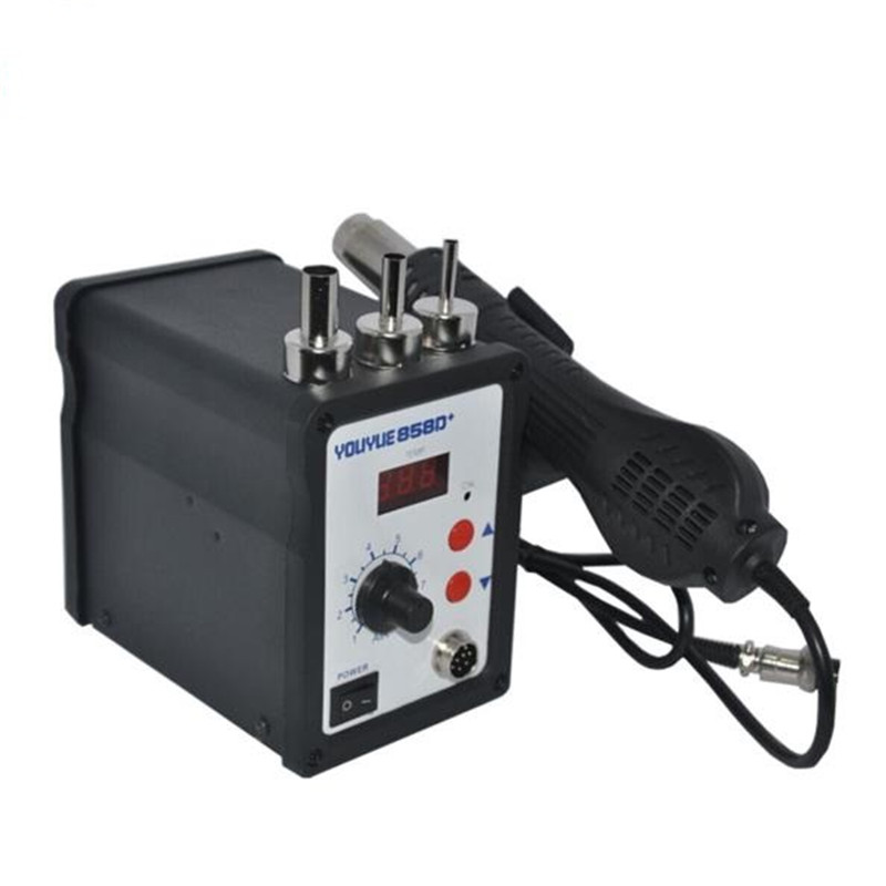 Hot Air Gun 700W YOUYUE 858D+ ESD Soldering Station LED Digital Heat Gun Desoldering Station Upgrade From 858D With 3 Air nozzle  цены