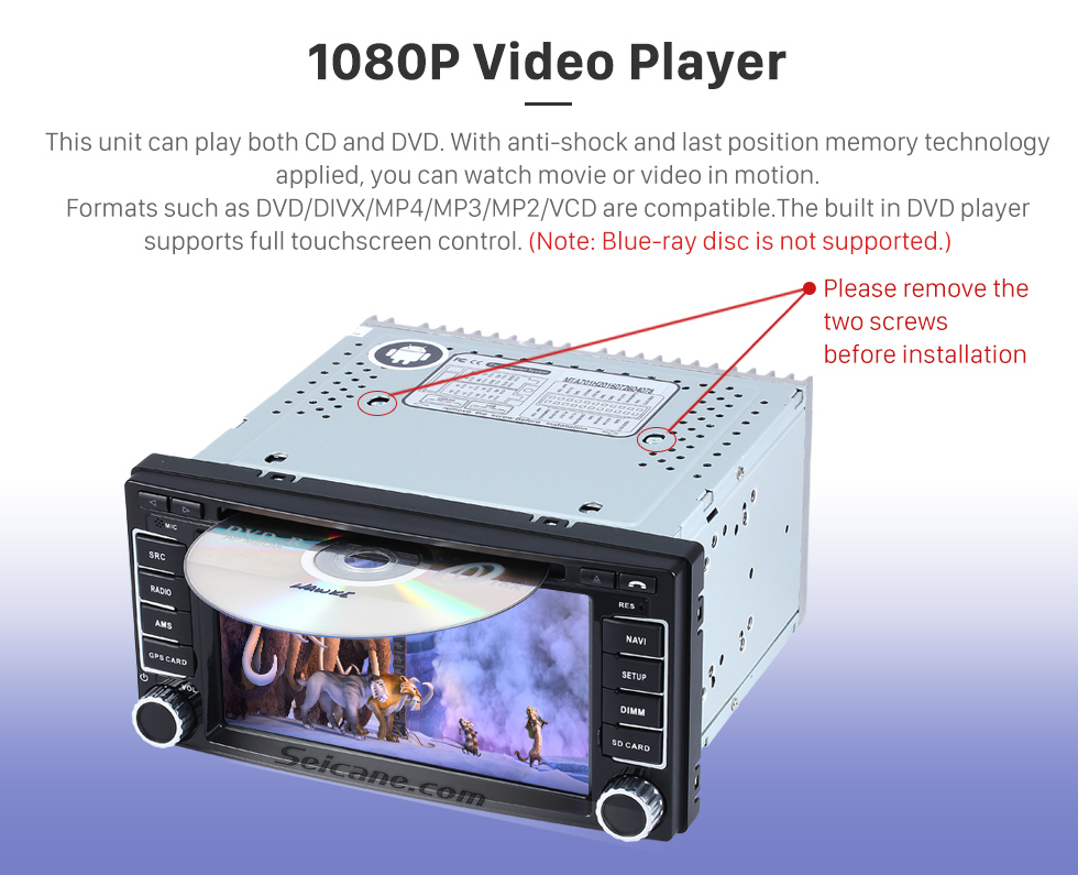 Seicane Android 7.1 car DVD Player GPS Navigation Stereo Upgrade for ...
