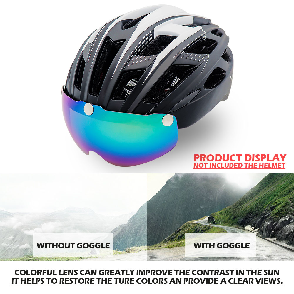 Bicycle Helmet, For Night Cycling, Lens Magnetic, Helmets Shield  MTB 2