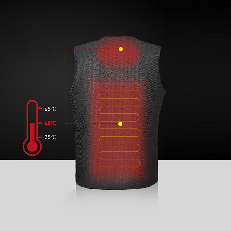 Outdoor Warm Electric Heated Clothing Riding Skiing Fishing USB Charging Electric Heated Vest Outdoor Keep Warm Accessories new charging heated down vest man skiing vest winter warm down thick vest camping hiking keep body warm black s xxxl