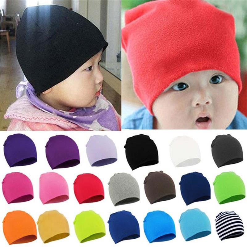 Cute Hat Bonnet Beanie Baby-Boy-Girl Unisex Cotton New Newborn Toddler Soft 20-Colors