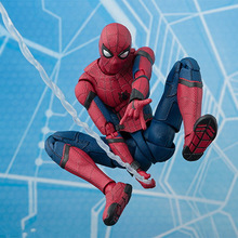 NEW hot 15cm Avengers Spiderman Super hero Spider-Man: Homecoming Action figure toys doll collection Christmas gift B554 j ghee spider man hero back homecoming spiderman q version pvc figure car decoration model doll toys brinquedos christmas gift