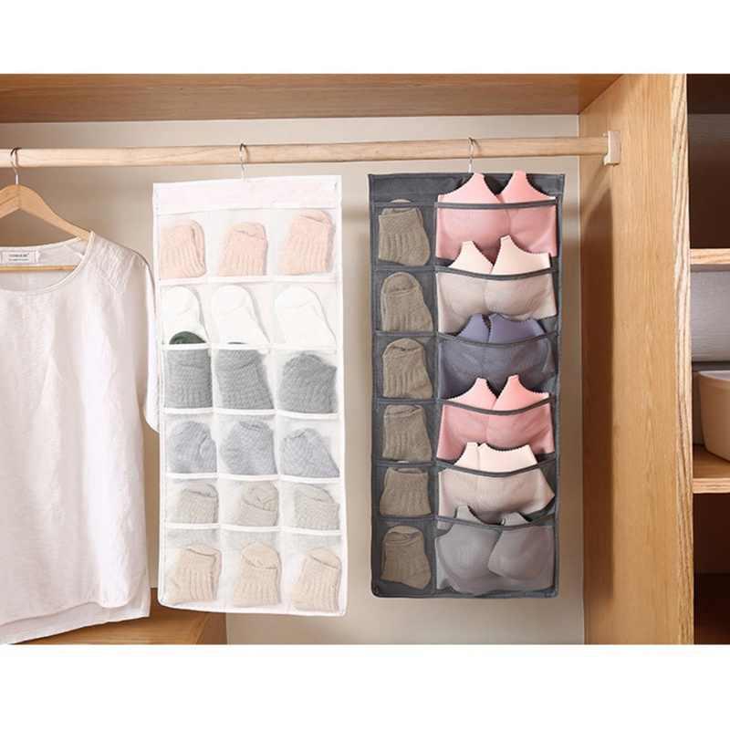 49d04d0e68ed Multifunction Underwear Sorting Storage Bag Door Wall Hanging Closet  Organizer Bag Waterproof Home Wardrobe Storage Hanging Bags