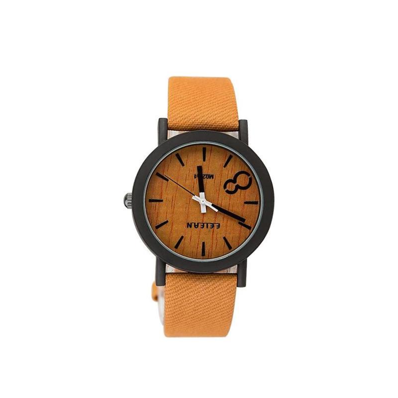 Fashion causal women watches simulation wood vintage dress quartz watch font b curren b font clock
