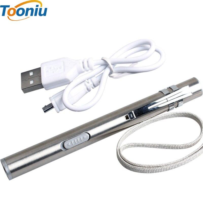 USB रिचार्जेबल एलईडी टॉर्च हाई-क्वालिटी पावरफुल मिनी एलईडी मशाल वॉटरप्रूफ डिजाइन पेन हैंगिंग विथ मेटल क्लिप