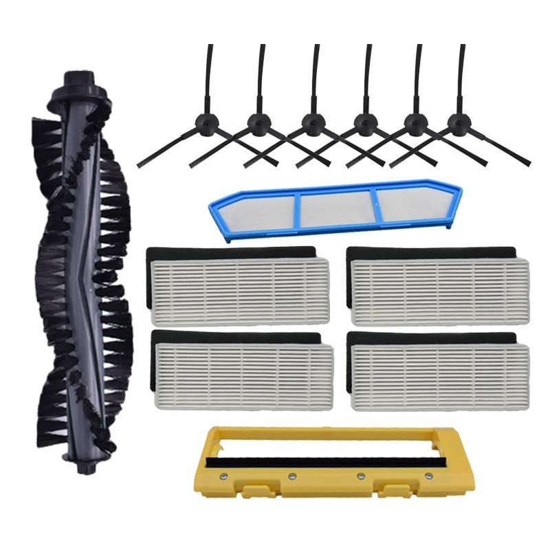 Kits de remplacement de filtres pour Ilife A4 A4S A40 filtre hepa et filtre primaire et brosse latérale
