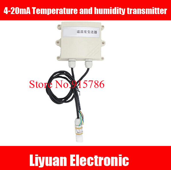 Waterproof probe 4 20mA Temperature and humidity transmitter 0 10V analog transmitter for greenhouses warehouse outdoor