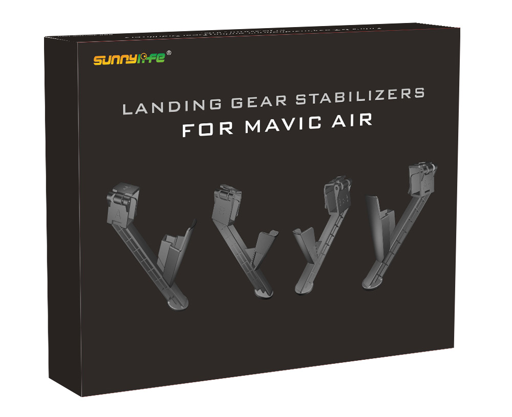 New Heightened Landing Gears Stabilizers Extensions for DJI MAVIC AIR Drone spark propeller guards protectors shielding rings with landing gears stabilizers for dji spark