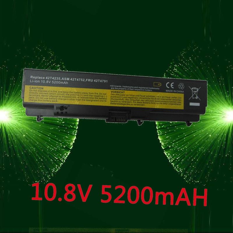 купить HSW 6cell Battery For Lenovo ThinkPad Edge E40 E50 L410 L412 L420 L421 L510 L512 L520 SL410 SL510 T410 T420 T510 T520 W510 W520 по цене 1171.06 рублей