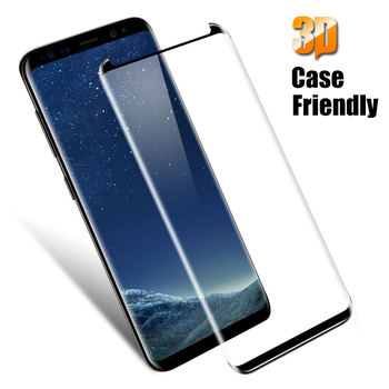 YKSPACE 9H 3D Curved Edge Case Friendly Tempered Glass Screen Protector For Samsung Galaxy S8 S9 Plus Note 9 8 Explosion proof image