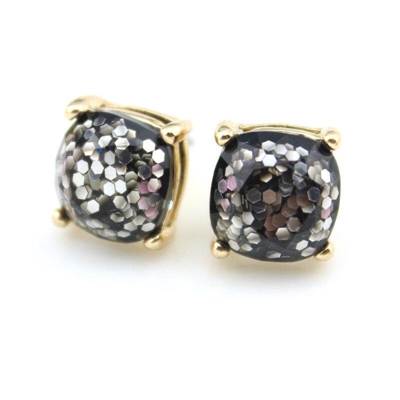 Ολόσωμη Kate Μικρή Πλατεία Οπλί Glitter Stud - Κοσμήματα μόδας - Φωτογραφία 4