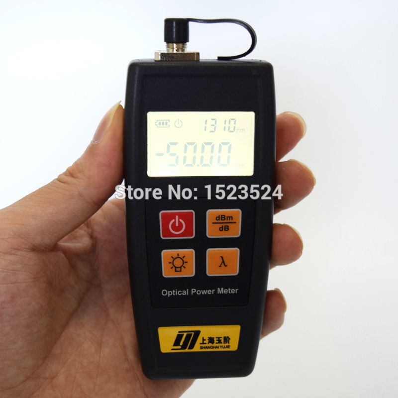CATV Broadcasting Television YJ350C -50 ~ + 26dBm Bærbar Mini Fiber Optical Power Meter