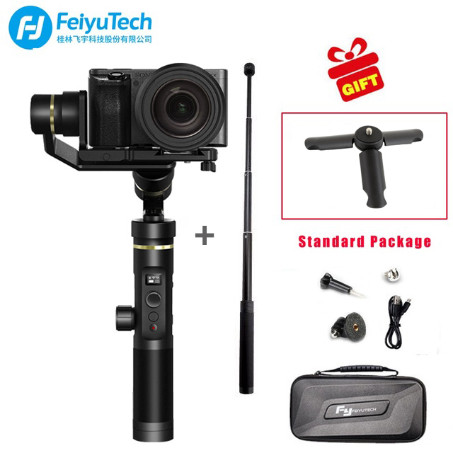 FeiyuTech G6 Plus cardan portable 3 axes résistant aux éclaboussures pour téléphones GoPro HERO Xiaomi yi 4 k SJ Sony RX100 Sony a6300 Canon M10