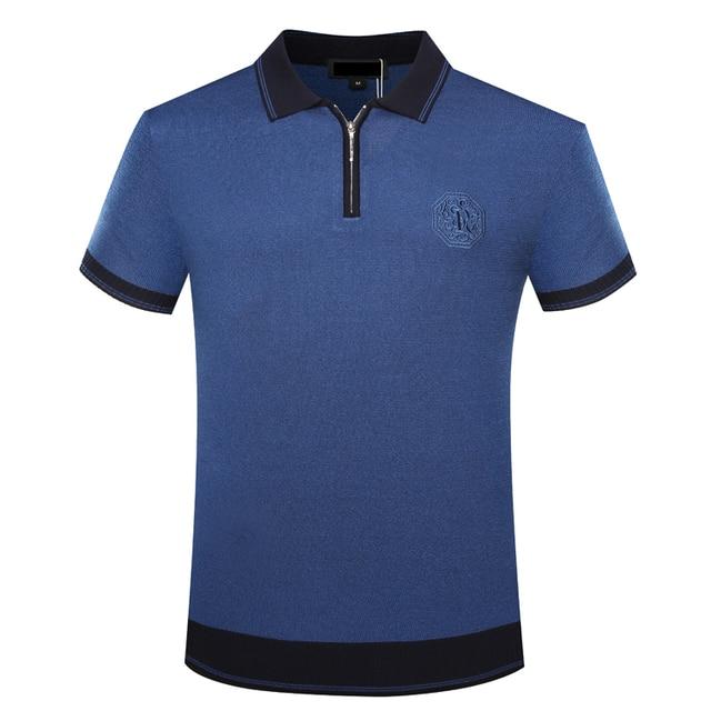 Billionaire TACE&SHARK T shirt men's 2018 summer new style commerce comfort zipper collar embroidery gentleman free shipping