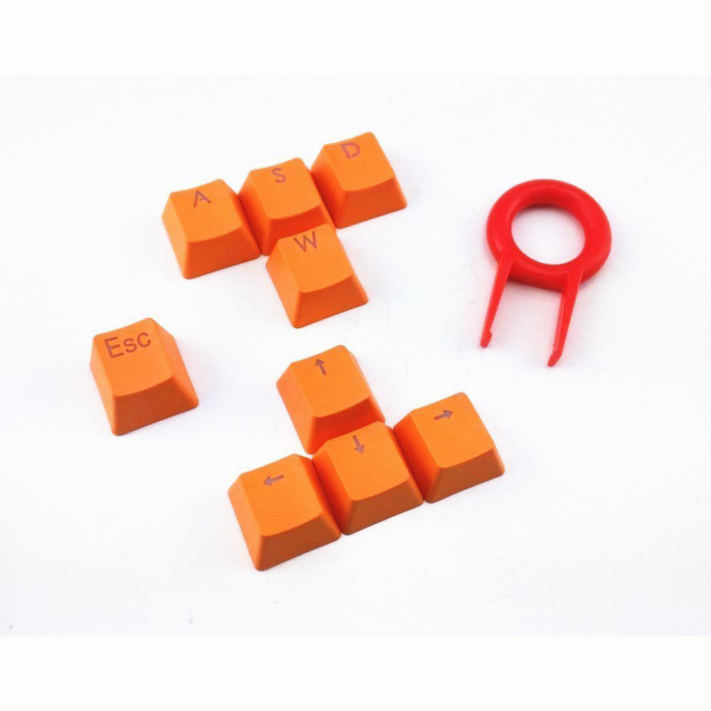 Key Caps For Cherry MX Mechanical Keyboard Orange 9 Keys PBT Backlit Translucent Keycaps For Cherry MX Keyboard 416#2