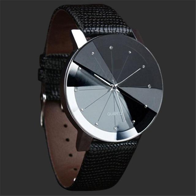 NEW Watch Men Luxury Quartz Sport Military Stainless Steel Dial Leather Band Wrist Watch Men women watch black Dropship#